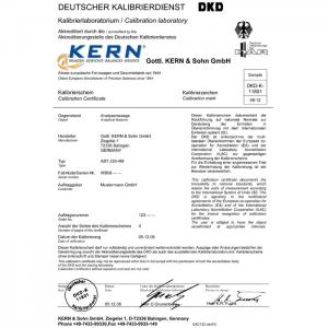Certificat de calibrare 963-127